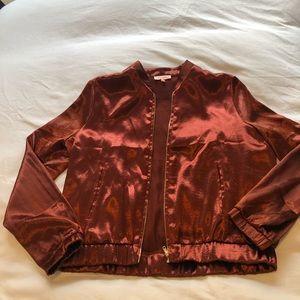 Renamed satin bomber jacket size medium